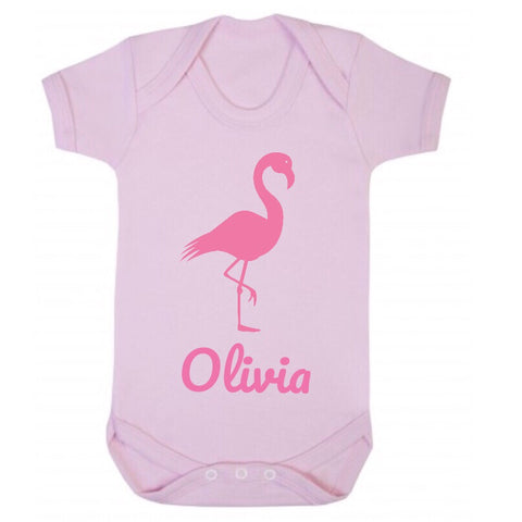 Personalised Flamingo Short Sleeve Body