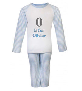 Personalised Name Children's Pyjamas