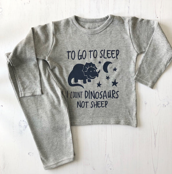 I Count Dinosaour Baby's Loungewear