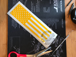 US Flag Pistol Stencil High Heat Vinyl, Cerakote, Duracoat, Krylon, Gun, Firearm