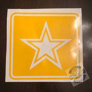 Army Star Stencil, High Heat Vinyl, Cerakote, Duracoat, Krylon, Gun, Firearm