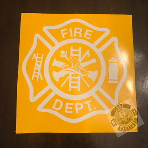 Fire Dept. Stencil, High Heat Vinyl, Cerakote, Duracoat, Krylon, Gun, Firearm