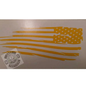 Waving Flag Stencil, High Heat Vinyl, Cerakote, Duracoat, Krylon, Gun, Firearm