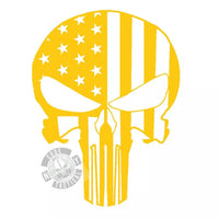 Punisher Stars and Bars Stencil, High Heat Vinyl, Cerakote, Duracoat, Krylon, Gun, Firearm