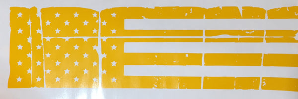 Tattered American Flag Slide Stencil, High Heat Vinyl, Cerakote, Duracoat,Krylon