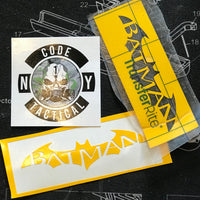 Batman Logo Stencil, High Heat Vinyl, Cerakote, Duracoat, Krylon, Gun, Firearm