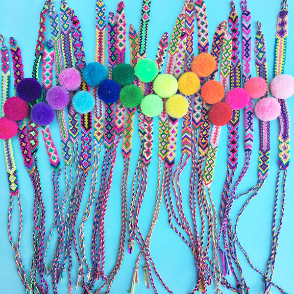 Surprise Pom Pom Friendship Bracelet