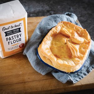Gluten Free Chicken and Mushroom Puff Pastry Pie