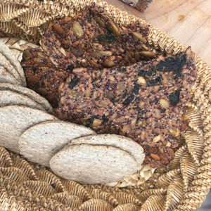 Gluten Free Nettle and Seed Crackers