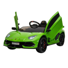 Load image into Gallery viewer, LAMBORGHINI SVJ FULLY LICENSED 12V CHILDRENS RIDE ON CAR WITH 2.4G PARENTAL REMOTE - GREEN