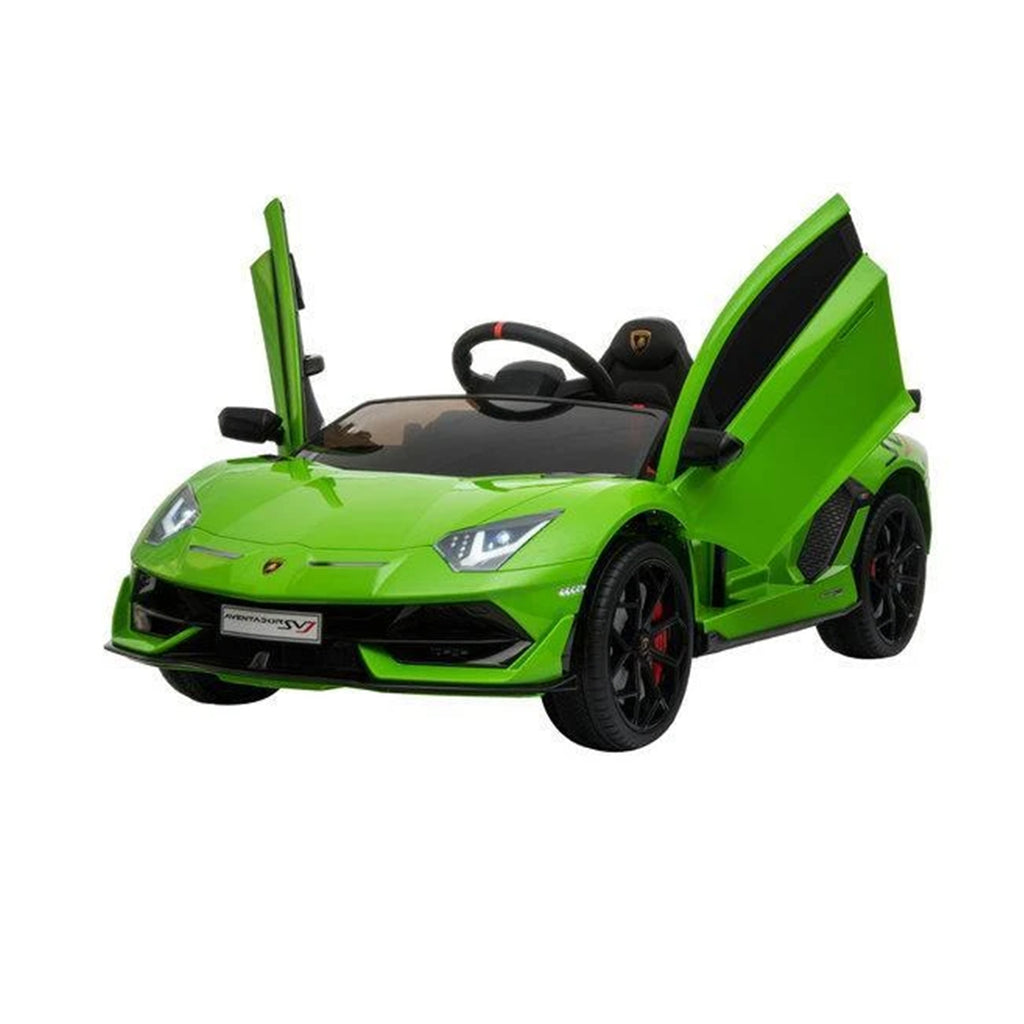 LAMBORGHINI SVJ FULLY LICENSED 12V CHILDRENS RIDE ON CAR WITH 2.4G PARENTAL REMOTE - GREEN