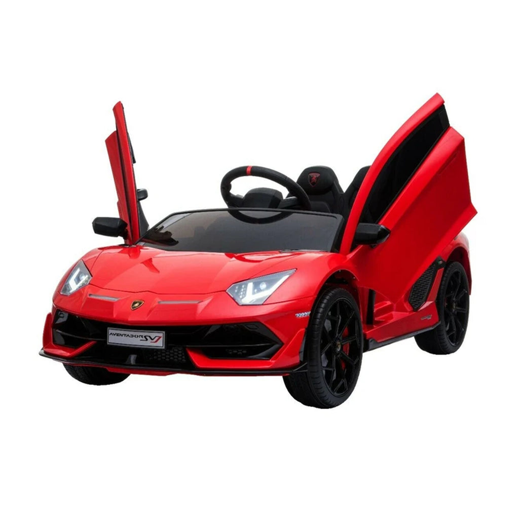 LAMBORGHINI SVJ FULLY LICENSED 12V CHILDRENS RIDE ON CAR WITH 2.4G PARENTAL REMOTE- RED