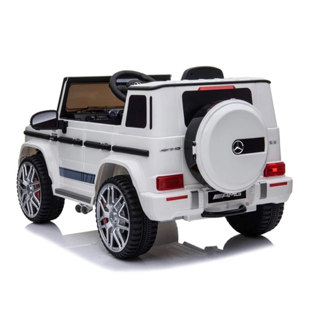 Fully Licensed Mercedes G63 AMG suv 12v electric ride on jeep- white