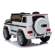 Load image into Gallery viewer, Fully Licensed Mercedes G63 AMG suv 12v electric ride on jeep- white