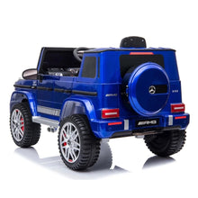 Load image into Gallery viewer, Fully Licensed Mercedes G63 AMG SUV 12v electric ride on jeep BIG SIZE(BBH003) LEATHER seat - Metallic Blue