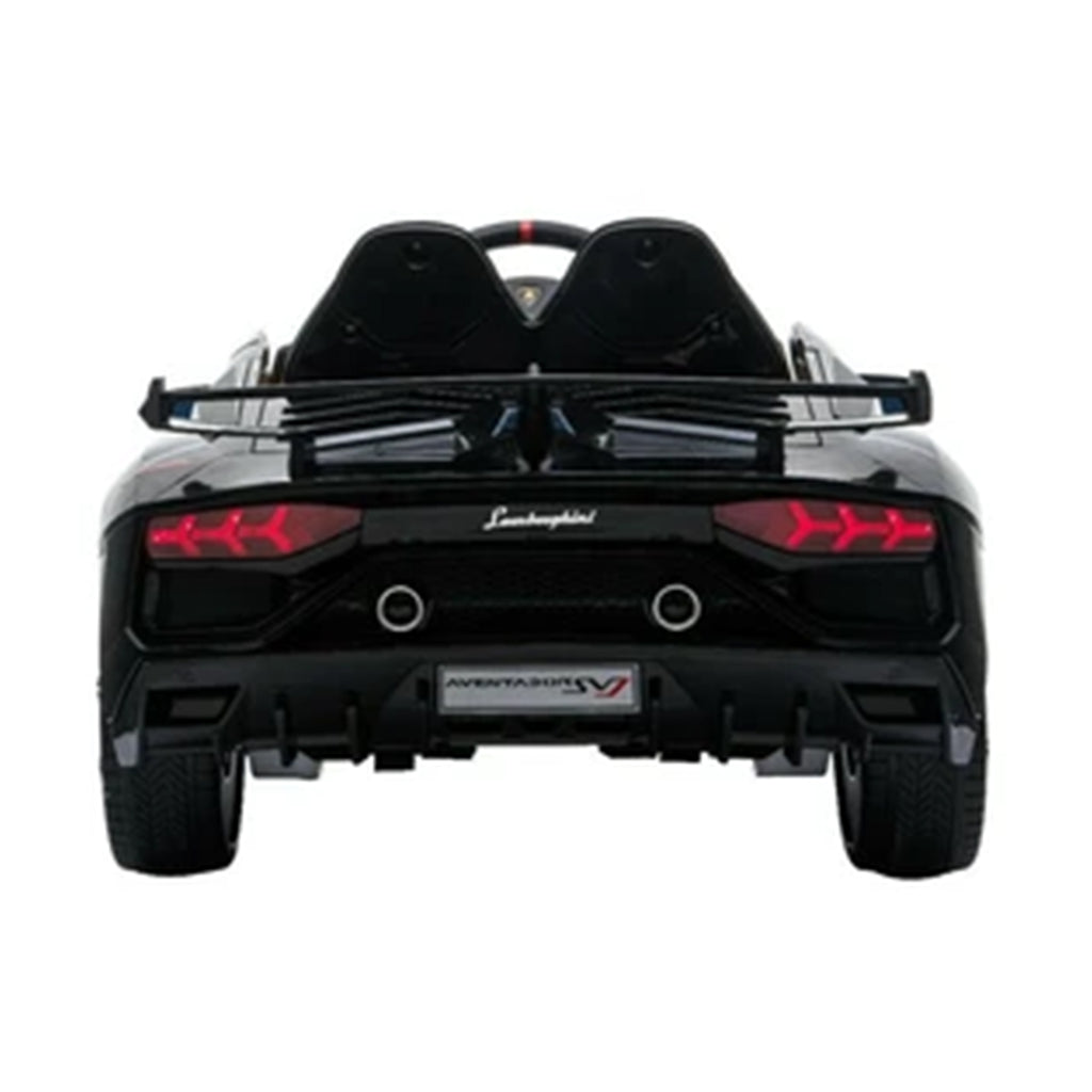 LAMBORGHINI SVJ FULLY LICENSED 12V CHILDRENS RIDE ON CAR WITH 2.4G PARENTAL REMOTE- MATTE BLACK