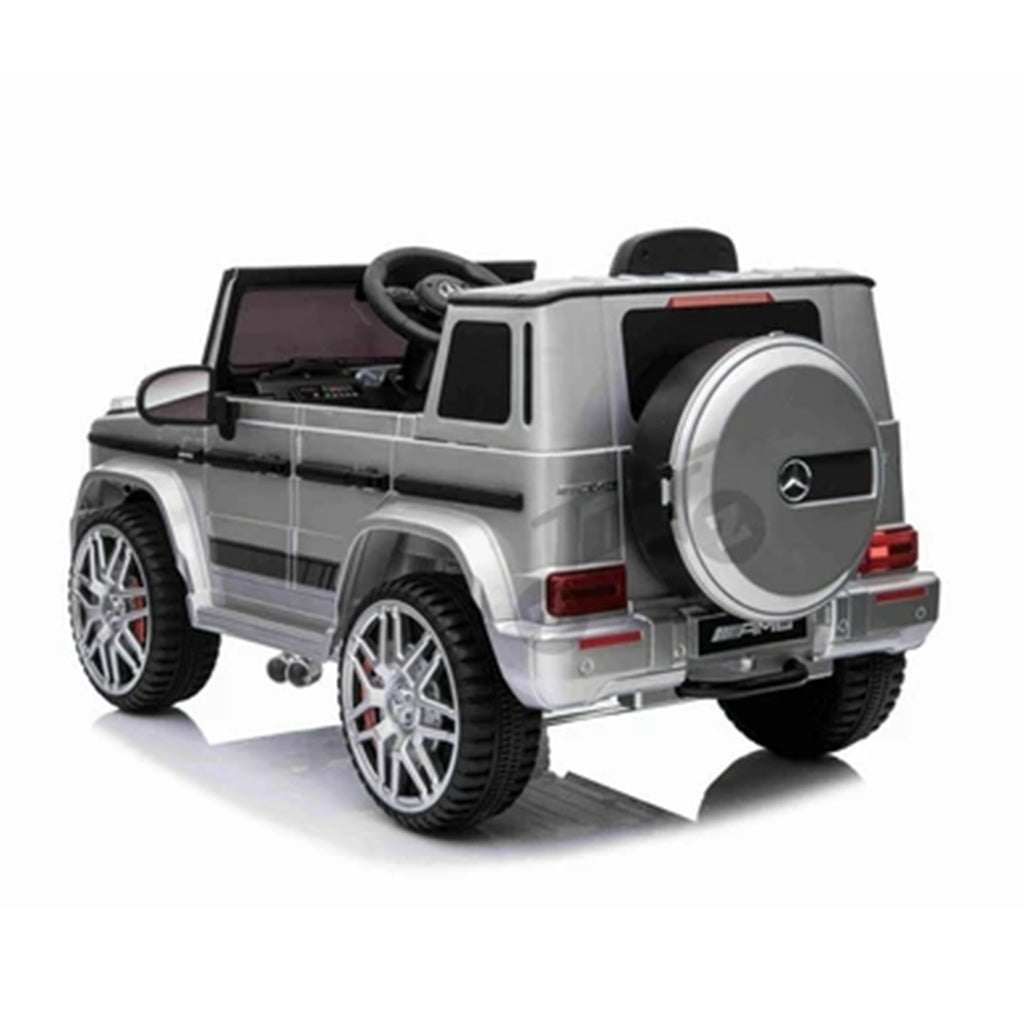 Fully Licensed Mercedes Benz G63 AMG 12V Battery Electric Ride on Car BIG SIZE(BBH003) - Metallic Silver