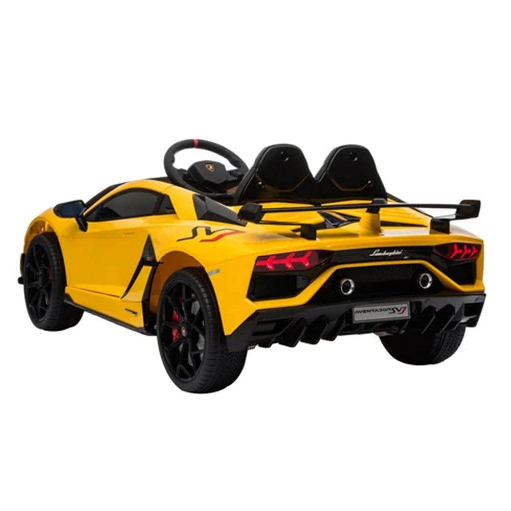 LAMBORGHINI SVJ FULLY LICENSED 12V CHILDRENS RIDE ON CAR WITH 2.4G PARENTAL REMOTE- YELLOW