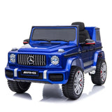 Fully Licensed Mercedes G63 AMG SUV 12v electric ride on jeep BIG SIZE(BBH003) LEATHER seat - Metallic Blue