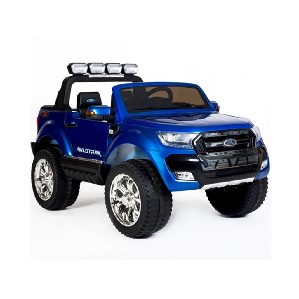 Ford Ranger Wildtrak Licensed 4WD 24V Battery Ride On Jeep - Blue