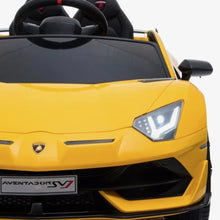 Load image into Gallery viewer, LAMBORGHINI SVJ FULLY LICENSED 12V CHILDRENS RIDE ON CAR WITH 2.4G PARENTAL REMOTE- YELLOW