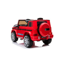 Load image into Gallery viewer, Fully Licensed Mercedes Benz G63 AMG- 12V Battery Electric Ride on Car 2019- Red