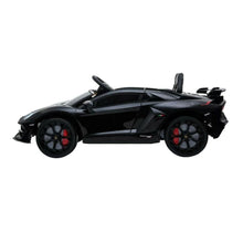 Load image into Gallery viewer, LAMBORGHINI SVJ FULLY LICENSED 12V CHILDRENS RIDE ON CAR WITH 2.4G PARENTAL REMOTE- MATTE BLACK