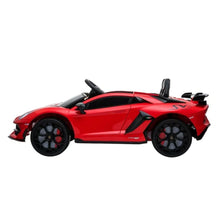 Load image into Gallery viewer, LAMBORGHINI SVJ FULLY LICENSED 12V CHILDRENS RIDE ON CAR WITH 2.4G PARENTAL REMOTE- RED