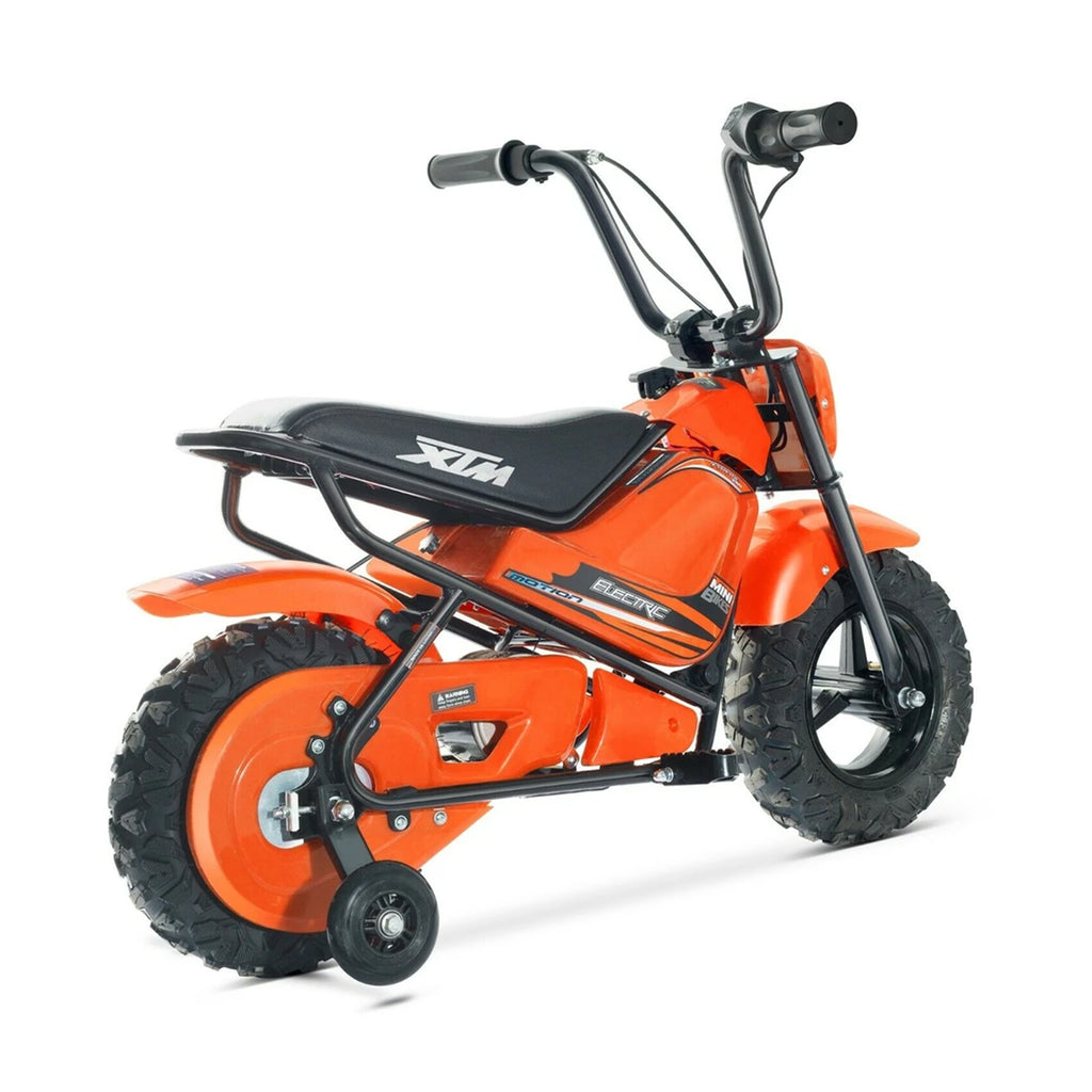 KIDS ELECTRIC 250W MINI DIRT BIKE MINI MOTO PIT SCRAMBLER BIKE 24V BATTERY HP108- Orange