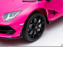 Load image into Gallery viewer, LAMBORGHINI SVJ FULLY LICENSED 12V CHILDRENS RIDE ON CAR WITH 2.4G PARENTAL REMOTE- PINK