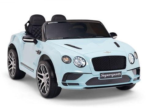 Licensed Bentley Continental Supersports 12V Electric Ride On Car with upgraded LEATHER seat and EVA rubber tyres-BLUE