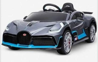 Licensed Bugatti Divo kids electric 12v ride on car with parental control- Matte grey