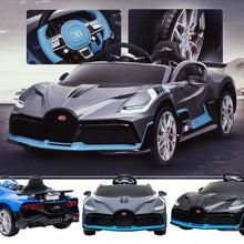 Load image into Gallery viewer, Licensed Bugatti Divo kids electric 12v ride on car with parental control- Matte grey
