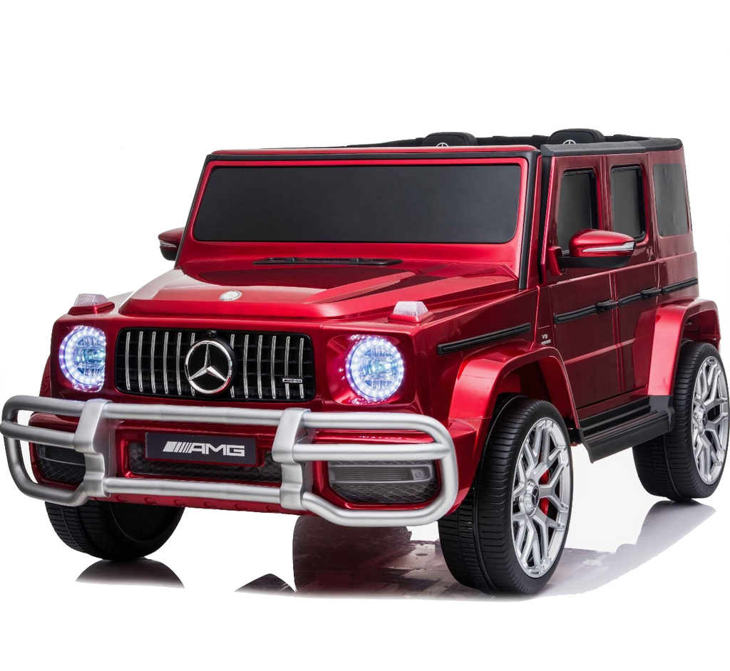 Licensed 4WD High Door Mercedes AMG G63 24V Ride On Jeep - Wine Red