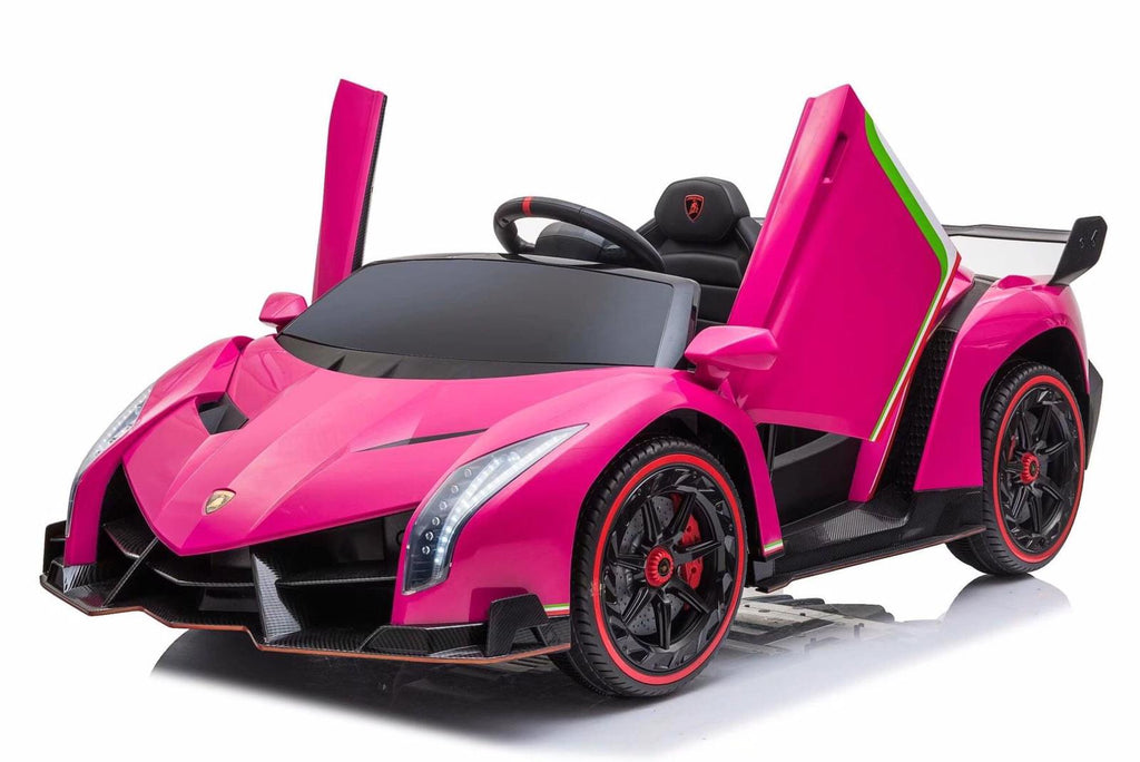 Fully Licensed Lamborghini Veneno 2 seater ride on car MP4 LCD screen - PINK