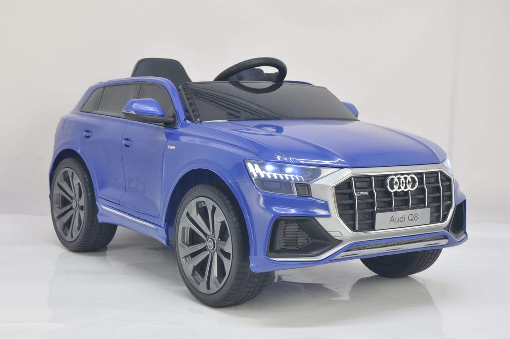 Licensed 12V Audi Q8 Children's Battery Operated 12v Ride on SUV - Blue