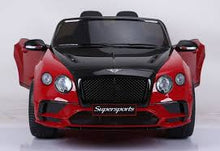 Load image into Gallery viewer, Licensed Bentley Continental Supersports 12V Electric Ride On Car with upgraded LEATHER seat and EVA rubber tyres-BLUE