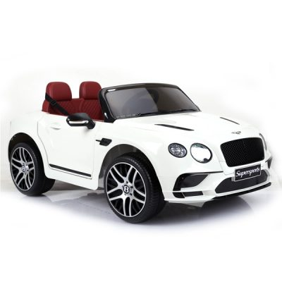 Licensed Bentley Continental Supersports 12V Electric Ride On Car with upgraded LEATHER seat and EVA rubber tyres-White