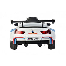 Load image into Gallery viewer, Licensed BMW M6 GT3 electric ride on car with EVA wheels and LEATHER seat upgrade- White