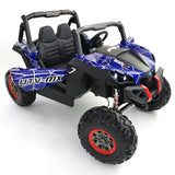 Renegade UTV-MX Buggy Style 24V 4WD Kids Electric Ride On With EVA Tyres, LEATHER seats and MP4 screen - Blue spider-man