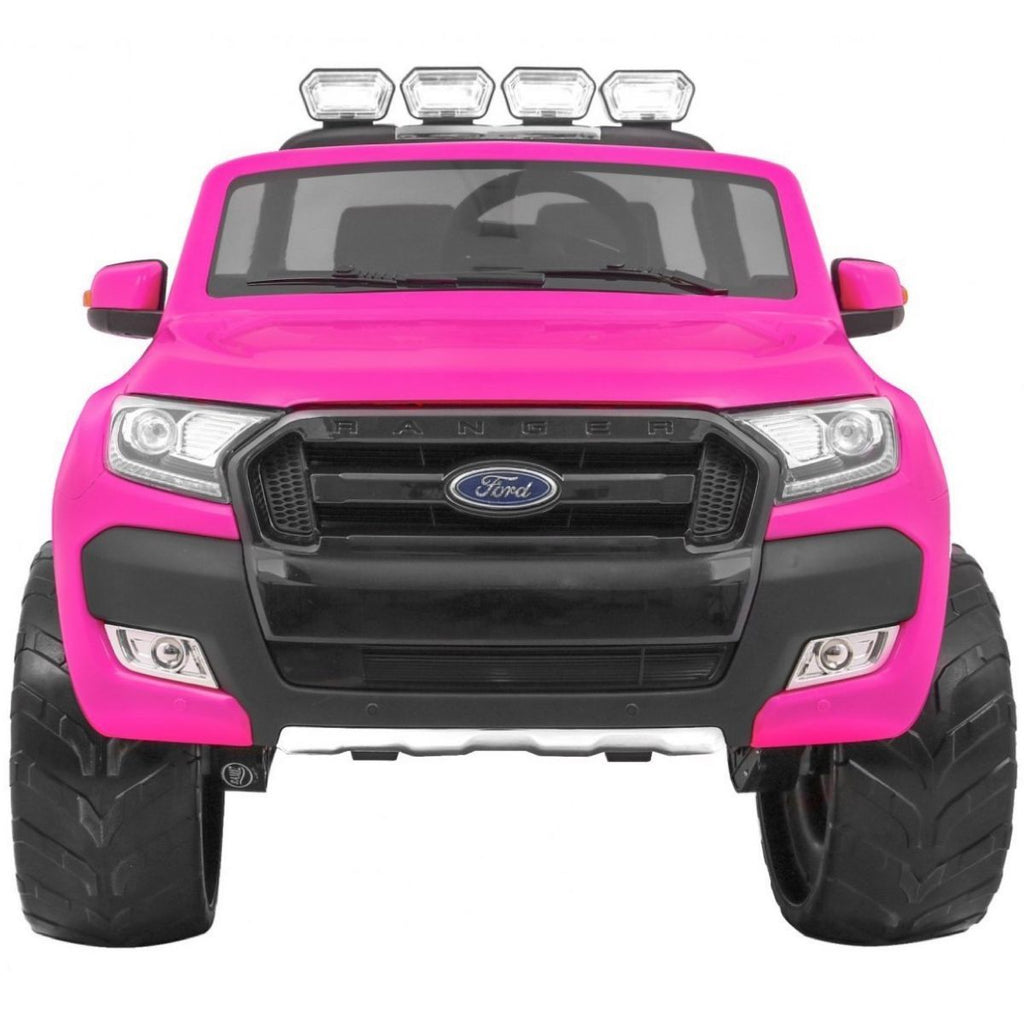 Ford Ranger Wildtrak Licensed 4WD 24V Battery Ride On Jeep - Pink