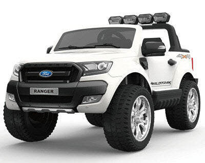 Ford Ranger Wildtrak Licensed 4WD 24V Battery Ride On Jeep - White
