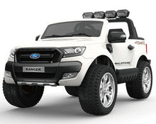 Load image into Gallery viewer, Ford Ranger Wildtrak Licensed 4WD 24V Battery Ride On Jeep - White