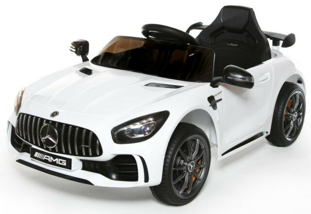 Official Licensed Mercedes AMG GTR ride on car with parental control-white/green.red