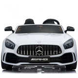OFFICIAL LICENSED 24V KIDS ELECTRIC RIDE ON MERCEDES GT R AMG 4WD WITH PARENTAL REMOTE CONTROL - 2 SEATER MODEL WHITE