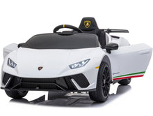 Load image into Gallery viewer, Licensed Lamborghini Huracán Performante Children's Battery Operated 12V Ride on car - White