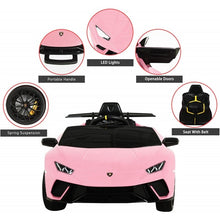 Load image into Gallery viewer, Licensed Lamborghini Huracán Performante Children's Battery Operated 12V Ride on car - Pink