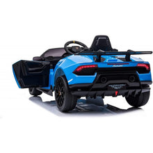 Load image into Gallery viewer, Licensed Lamborghini Huracán Performante Children's Battery Operated 12V Ride on car - Blue