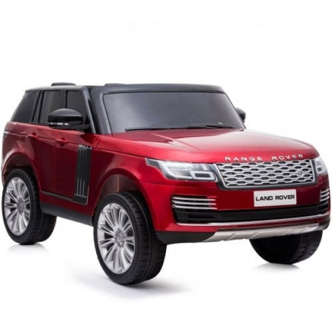 Licensed 24V Range Rover Vogue HSE 4WD 2 Seater Ride On Jeep with parental control and fitted screen - WINE RED