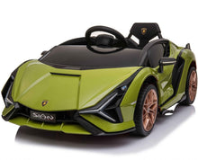 Load image into Gallery viewer, Latest 2020 Licensed Lamborghini Sian childrens electric ride on car with MP4 Screen and parental control